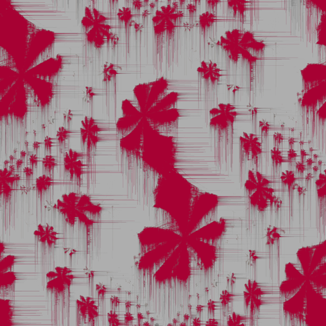 Fractalese (Red) fabric by david_kent_collections on Spoonflower - custom fabric