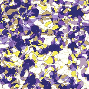 Meander in Violet and Yellow • LARGE
