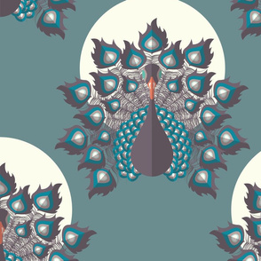 Peacock pattern 002