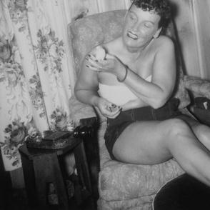 Lily Taylor Self Portrait w/Parakeet 1945