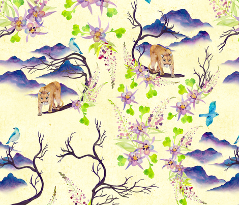 Mountain Spirit fabric by katebillingsley on Spoonflower - custom fabric