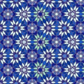 Floral Mosaic - Blue