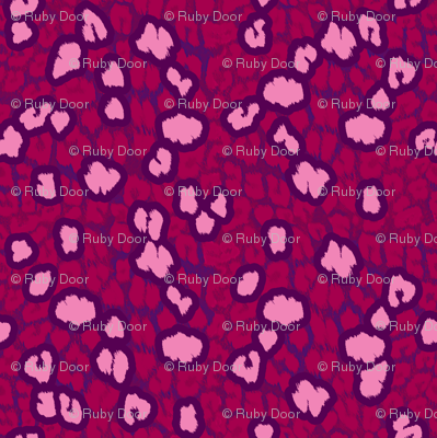 Leopard Spots in Red and Pink • LARGE