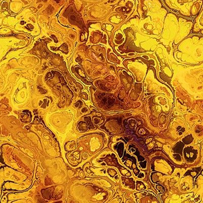 Yellow Orange Marbled Abstract