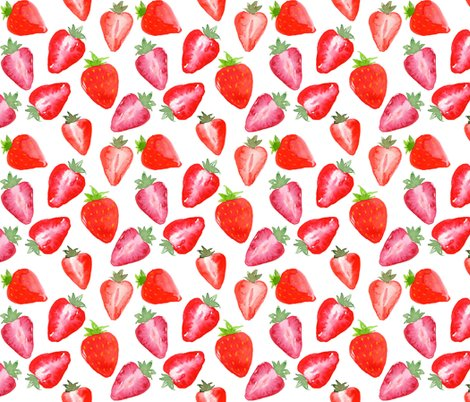 Rstrawberries_red_watercolour_on_white_shop_preview