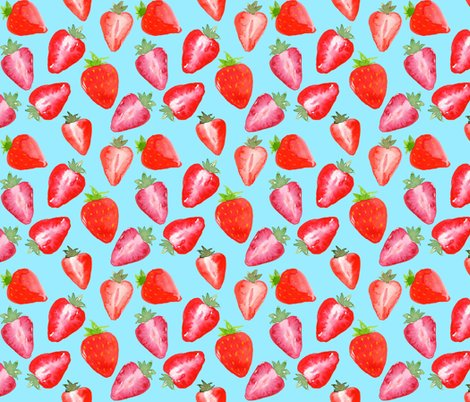 Rstrawberries_red_watercolour_on_blue_shop_preview
