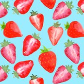 Rstrawberries_red_watercolour_on_blue_shop_thumb
