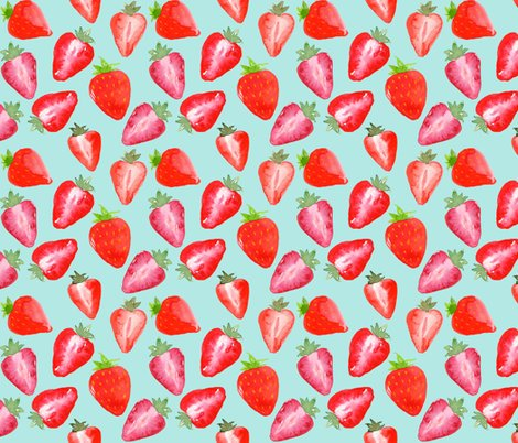 Rstrawberries_red_watercolour_on_mint_shop_preview
