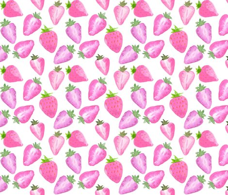 Rstrawberries_watercolour_pink_hue_shop_preview