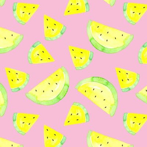 Watermelon yellow on pink