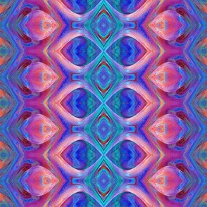 Colorful Pink Blue Abstract