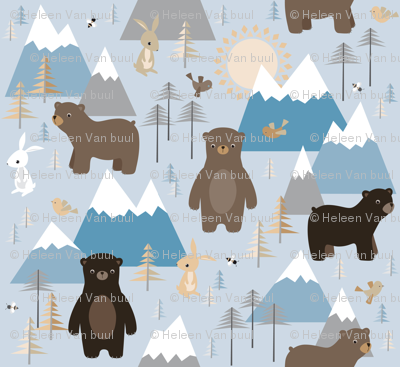bears in mountains