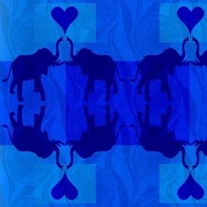 Elephant duo background squares-ed