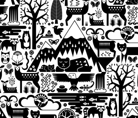 mountain friends fabric by analinea on Spoonflower - custom fabric