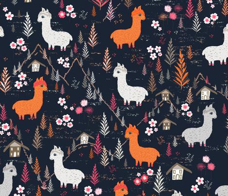 Mountain Alpacas fabric by jill_o_connor on Spoonflower - custom fabric