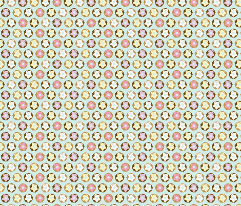 Kawaii Donuts fabric by marcelinesmith on Spoonflower - custom fabric