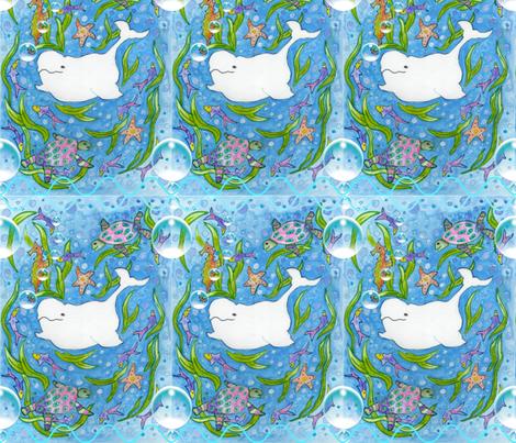 Beluga Holiday fabric by floramoon_designs on Spoonflower - custom fabric