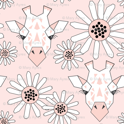 small giraffe-and-daisies-on-soft-pink