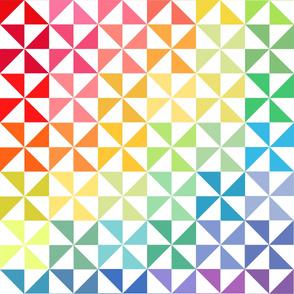 Rainbow Pinwheel Quilt