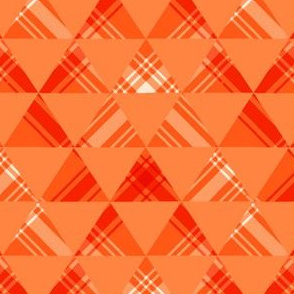 Orange Plaid Triangles
