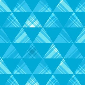 Turquoise Plaid Triangles