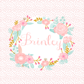 brinley custom name fabric
