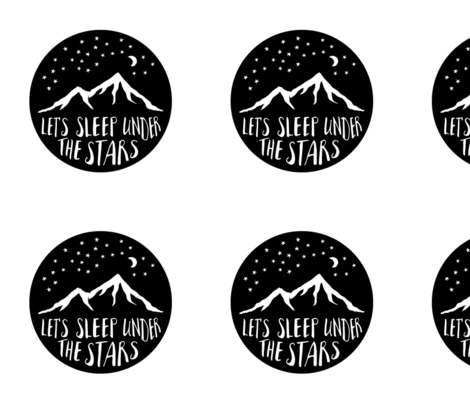 9 inch quilt blocks - Let's sleep under the stars fabric by littlearrowdesign on Spoonflower - custom fabric