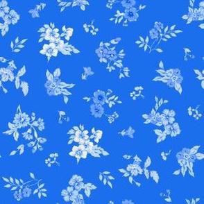 Blue Floral Toss
