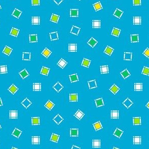 Turquoise Toss of Tiny Squares