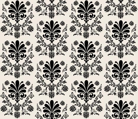 Essence 525- Onyx Cream fabric by drapestudio on Spoonflower - custom fabric