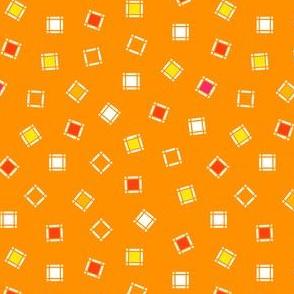 Orange Squares Toss