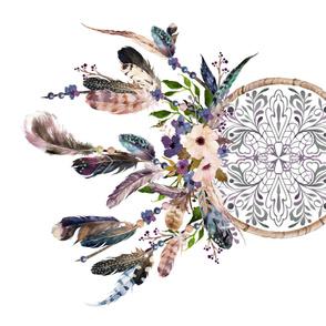"""42"""" x 36"""" - Lavender Dream Catcher 90 degrees - No Florals Around / White Background"""