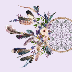 "42""x36"" Lavender Dream Catcher - In Lavender Background"