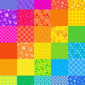 Rainbow Squares Quilt