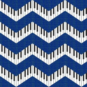 piano chevron royal blue