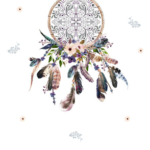 "2 Yards - 56"" x 72"" - Lavender Dream Catcher"