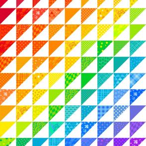 Rainbow Triangle Quilt