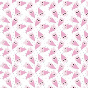 Pink Ice Cream Bear extra small