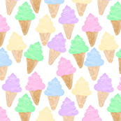 Ice Cream cone watercolour colourful