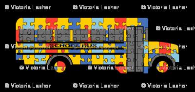 Autism Awareness school bus