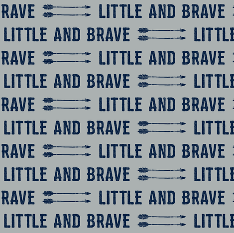 "1/2"" scale - navy on grey - Little and Brave  fabric by littlearrowdesign on Spoonflower - custom fabric"