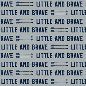 "1/2"" scale - navy on grey - Little and Brave"