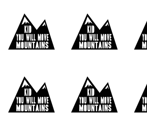 "9"" quilt blocks - Kid you will move mountains fabric by littlearrowdesign on Spoonflower - custom fabric"