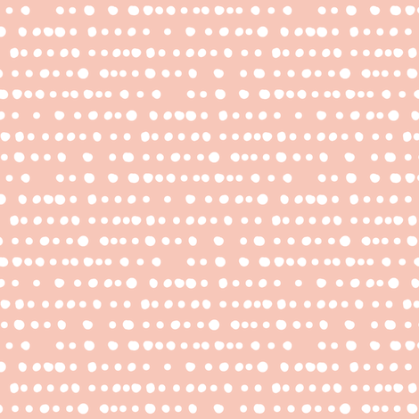 dotty stripe on salmon peach fabric by littlearrowdesign on Spoonflower - custom fabric