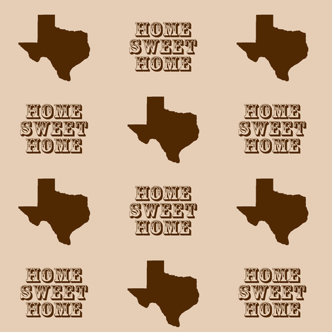 Texas Home fabric by thinlinetextiles on Spoonflower - custom fabric