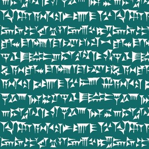 Babylonian Cuneiform on Aqua // Small