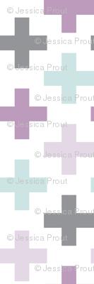 multi cross // mauve and light lilac