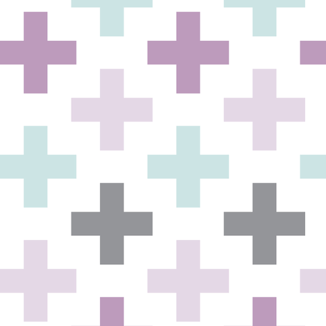multi cross // mauve and light lilac fabric by littlearrowdesign on Spoonflower - custom fabric