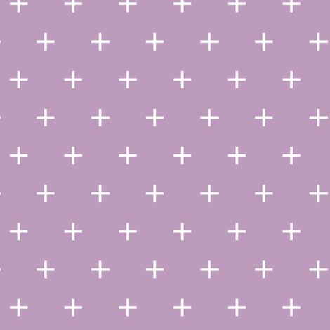 mauve cross fabric by littlearrowdesign on Spoonflower - custom fabric