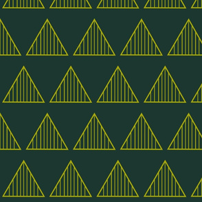 yellow stripe triangle on green